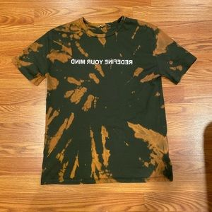 Bleach dyed graphic tee